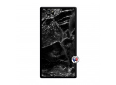 Coque Sony Xperia Z1 Compact Black Marble Noir