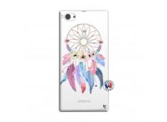 Coque Sony Xperia Z1 Compact Multicolor Watercolor Floral Dreamcatcher