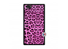 Coque Sony Xperia Z1 Compact Pink Leopard Noir