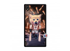 Coque Sony Xperia Z1 Cat Nasa Noir