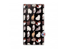 Coque Sony Xperia Z1 Cat Pattern