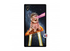 Coque Sony Xperia Z1 Cat Pizza Noir