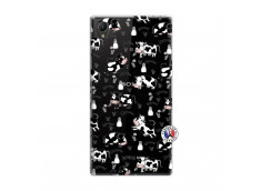 Coque Sony Xperia Z1 Cow Pattern