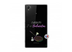 Coque Sony Xperia Z1 Je Peux Pas J Ai Badminton