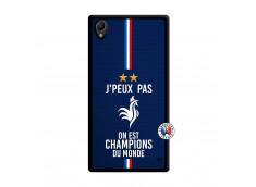 Coque Sony Xperia Z1 Je Peux Pas On Est Les Champions Du Monde Noir
