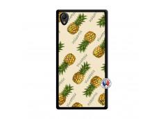 Coque Sony Xperia Z1 Sorbet Ananas Noir