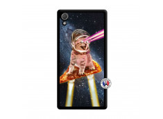 Coque Sony Xperia Z2 Cat Pizza Noir