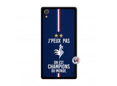 Coque Sony Xperia Z2 Je Peux Pas On Est Les Champions Du Monde Noir