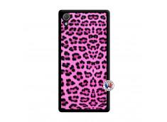 Coque Sony Xperia Z2 Pink Leopard Noir