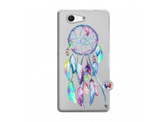 Coque Sony Xperia Z3 Compact Blue Painted Dreamcatcher