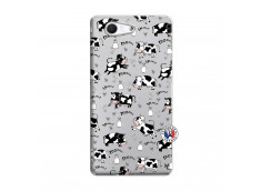 Coque Sony Xperia Z3 Compact Cow Pattern