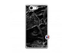 Coque Sony Xperia Z3 Compact Black Marble Translu
