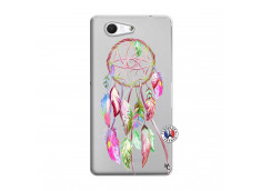 Coque Sony Xperia Z3 Compact Pink Painted Dreamcatcher