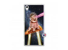 Coque Sony Xperia Z3 Cat Pizza Translu