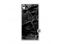 Coque Sony Xperia Z3 Black Marble Translu