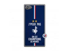 Coque Sony Xperia Z5 Compact Je Peux Pas On Est Les Champions Du Monde Translu