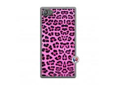 Coque Sony Xperia Z5 Compact Pink Leopard Translu