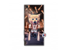 Coque Sony Xperia Z5 Cat Nasa Translu
