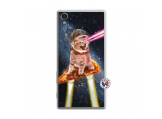 Coque Sony Xperia Z5 Cat Pizza Translu