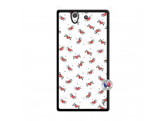 Coque Sony Xperia Z Cartoon Heart Noir