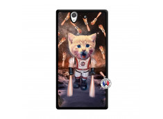 Coque Sony Xperia Z Cat Nasa Noir