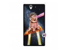 Coque Sony Xperia Z Cat Pizza Noir