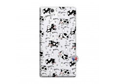 Coque Sony Xperia Z Cow Pattern