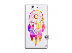 Coque Sony Xperia Z Dreamcatcher Rainbow Feathers