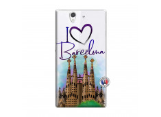 Coque Sony Xperia Z I Love Barcelona