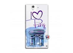 Coque Sony Xperia Z I Love Paris Arc Triomphe