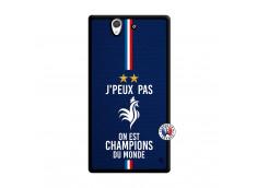 Coque Sony Xperia Z Je Peux Pas On Est Les Champions Du Monde Noir