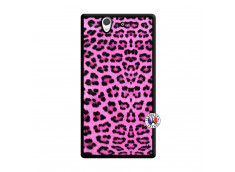 Coque Sony Xperia Z Pink Leopard Noir