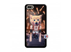 Coque Huawei Y6 2018 Cat Nasa Noir