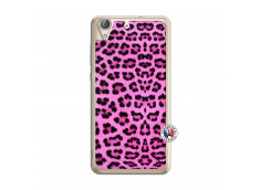 Coque Huawei Y6 2 Pink Leopard Translu