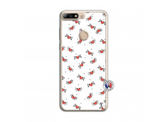 Coque Huawei Y7 2018 Cartoon Heart Translu