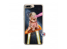 Coque Huawei Y7 2018 Cat Pizza Translu
