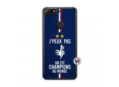 Coque Huawei Y7 2018 Je Peux Pas On Est Les Champions Du Monde Translu