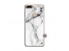 Coque Huawei Y7 2018 White Marble Translu