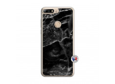 Coque Huawei Y7 2018 Black Marble Translu