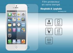 Film Protecteur iPhone 5/5S en Verre trempé 0.4mm