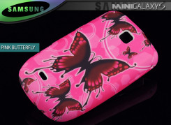 Coque Galaxy S Mini 5570 Pink Butterfly