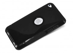 Coque iPod Touch 4 Grip Flex Noir