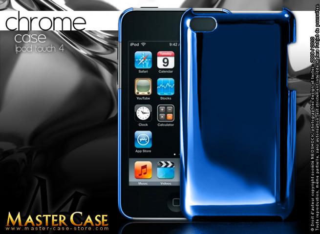 "Coque iPod Touch 4 ""Chrome Case""-bleu"