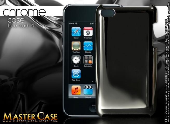 """Coque iPod Touch 4 """"Chrome Case""""-argent"""