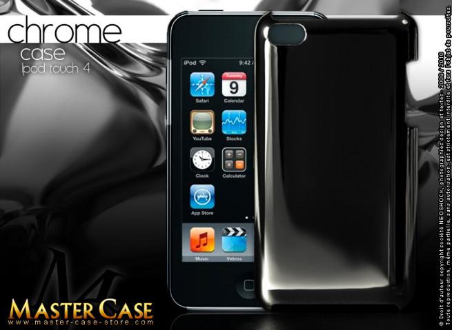 """Coque iPod Touch 4 """"Chrome Case""""-noir"""