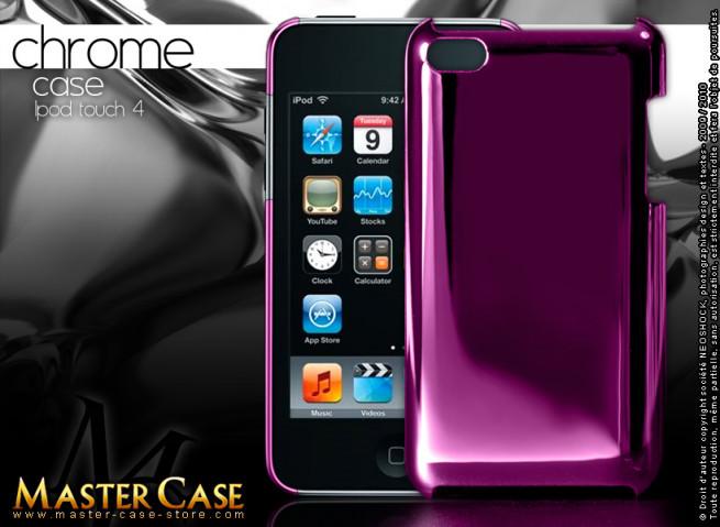 "Coque iPod Touch 4 ""Chrome Case""-rose fuschia"