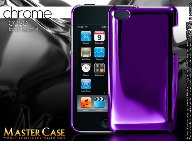 "Coque iPod Touch 4 ""Chrome Case""-violet"