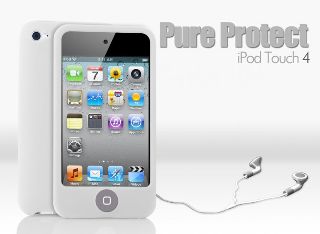 Coque iPod Touch 4 blanc