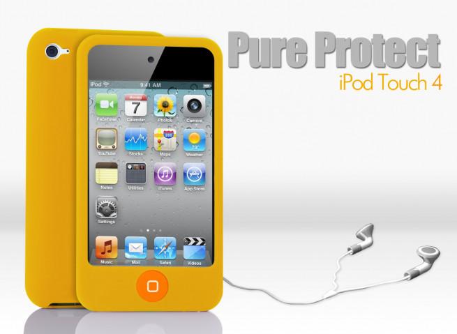 Coque iPod Touch 4 jaune
