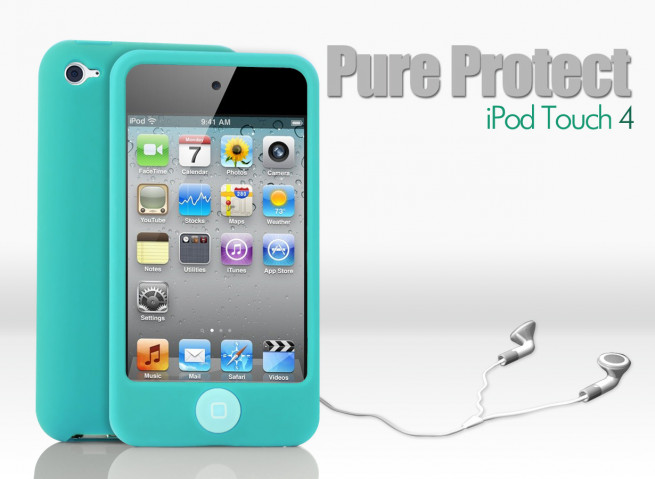Coque iPod Touch 4 turquoise